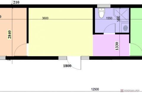 Модульний будинок М42 проект-схема фото1