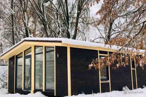 модульний будинок взимку фото1