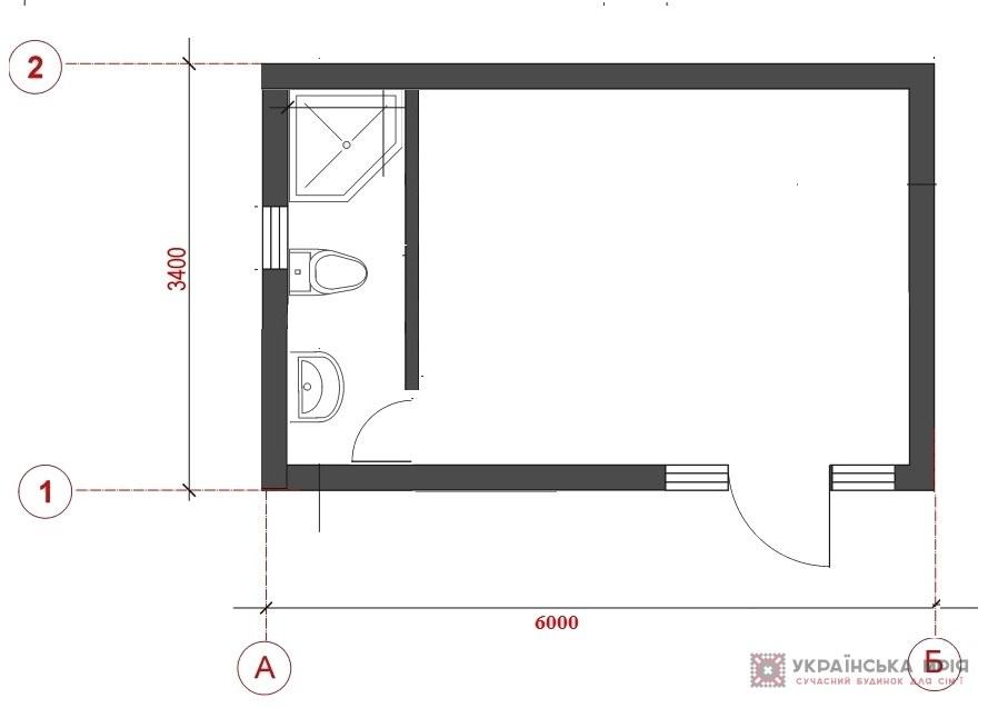 Модульный дом М18 схема фото1