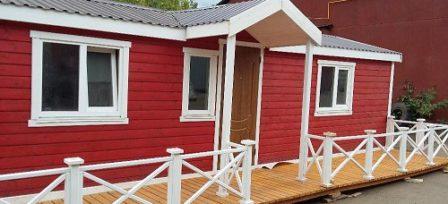 Модульный дом М36 красный